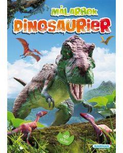 Dinosaurier Målarbok