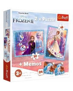 Frost 2 pussel & memo 3 i 1