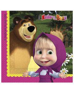 Masha och björnen Servetter