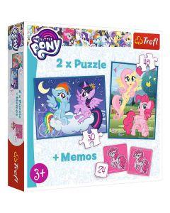 My little pony pussel & memo 3 i 1